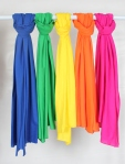 Pashmina color blocking